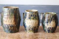 Scottish Pottery Slipware Barrel Storage Jars x4 (7 of 35)