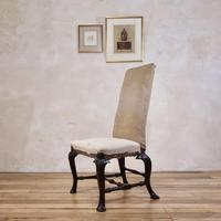 18th Century Ebonised & Upholstered Queen Anne Side Chair (11 of 13)