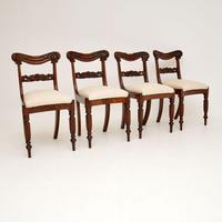 Set of 4 Antique William IV Mahogany Dining Chairs (2 of 10)