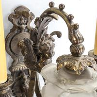 Pair of Ornate Bronze Twin-branch Wall Light Fittings (3 of 3)