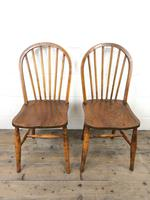 Pair of Antique Hoop Back Farmhouse Chairs (4 of 13)