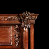 Grand Antique 19th Century Carved Walnut Fire Surround Provenance Castle Levan Manor (3 of 6)