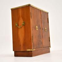 Antique Military Campaign Style Yew Wood Miniature Cabinet (5 of 7)