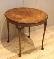 Low Circular Walnut Table (9 of 9)