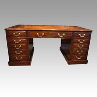 Edwardian Mahogany Large Pedestal Desk (6 of 13)