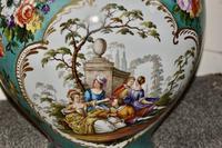Stunning Very Large Late 19th Century Helena Wolfsohn Dresden Vase + Cover (5 of 11)