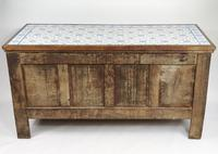 Decorative 17th Century Converted Inlaid Oak Coffer (3 of 7)