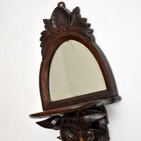 Antique Victorian Carved Eagle Mirror with Shelf (9 of 10)