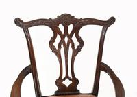 Set of Chippendale Dining Chairs Mahogany Antique 1890 Ball Claw (4 of 9)