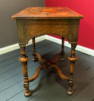 Outstanding William & Mary Style Leather & Stud Bound Country Oak Lowboy Table (7 of 18)