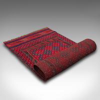 Long Antique Meshwari Runner, Persian, Wool, Kilim, Hallway, Carpet c.1900 (12 of 12)
