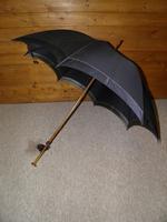 Antique Hallmarked 18 Carat Gold Plate Navy Canopy Umbrella by Feldman Brothers (3 of 15)