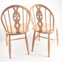Pair of Ercol Fleur-de-lis Windsor Chairs (2 of 5)