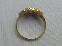18ct Gold Amethyst & Pearl Ring (3 of 6)