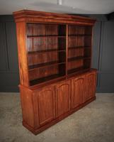 Large Mahogany Open Library Bookcase (5 of 11)