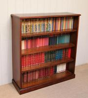 Edwardian Mahogany Open Bookcase c.1910 (7 of 11)