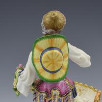Fine Pair Minton Porcelain Sweetmeat Figures with Baskets Models 84 & 85 c.1830 (16 of 23)