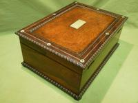 QUALITY Inlaid Rosewood & Amboyna Jewellery – Work Box. c1840 (16 of 16)