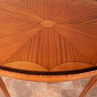 Inlaid Oval Satinwood Occasional Table (13 of 15)