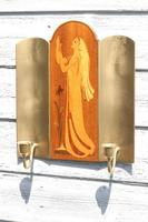 Pair of Swedish Art Deco Double Candle Sconces by Mjolby Intarsia c.1930 (12 of 21)