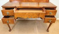 Antique Burr Walnut, Triple Mirror Shaped Dressing Table (10 of 12)