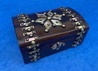 Victorian Brassbound French Rosewood Trinket Box (7 of 11)