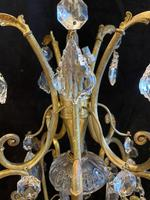 One Light Italian Open Lantern Antique Chandelier (3 of 12)