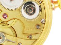 Judex Art Deco Gold Filled Open Face Pocket Watch with Chain Swiss 1925 (6 of 7)