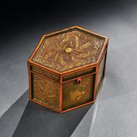 18th Century Georgian Paper Scrolled Quilled Satinwood Tea Caddy (3 of 6)