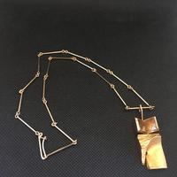 """Lapponia 14ct """"Narcissos"""" Gold Necklace with Rock Crystal"""
