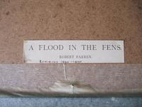 """Robert Farren - Etching """"A Flood in the Fens"""" Featuring Ely Cathedral (4 of 4)"""