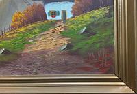 The Three Peaks 20thc Vintage Swiss School - Mountainous Landscape Oil Painting (10 of 12)