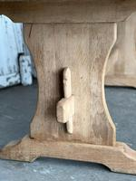 French Bleached Oak Trestle End Farmhouse Dining Table (15 of 19)