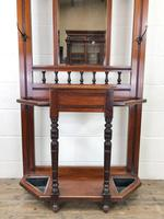 Antique Edwardian Mirror Back Hall Stand (2 of 10)