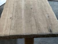 Primitive French Bleached Oak Farmhouse Dining Table (10 of 20)