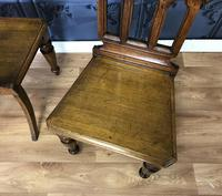 Pair of Victorian Gothic Style Hall Chairs (10 of 13)