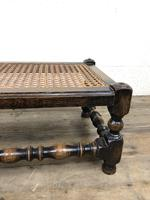Early 20th Century Turned Oak Footstool with Cane Top (9 of 12)