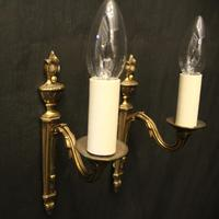 French Pair of Single Arm Antique Wall Lights (2 of 10)