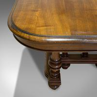 Large Antique Extending Dining Table, French, Walnut, Seats 4-10 c.1900 (2 of 12)