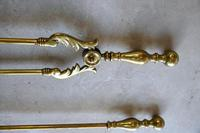 Quality Antique Brass Fire Shovel & Tongs (6 of 9)