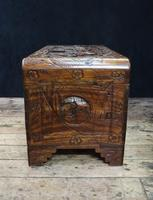 Oriental Carved Camphor Wood Chest c.1910 (11 of 12)