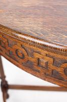1920s Oak Demi-Lune Hall Table (10 of 12)
