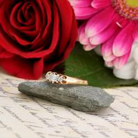 The Antique White Tipped Three Diamond Ring (2 of 6)