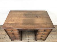 Early 20th Century Oak Kneehole Desk (7 of 14)