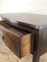 Georgian Mahogany Bow Front Side Table (3 of 14)