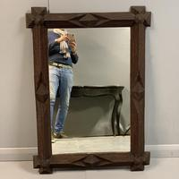 "Large ""tramp art"" mirror with original glass (2 of 6)"