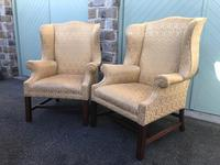 Pair of Antique English Upholstered Wing Armchairs for Recovering (12 of 12)