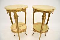 Pair of Antique French Brass & Onyx Side Tables (5 of 7)