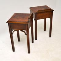 Pair of Antique Chippendale Style Mahogany Bedside Tables (12 of 12)