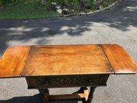 Antique Carved Oak Hall Side Table (10 of 11)